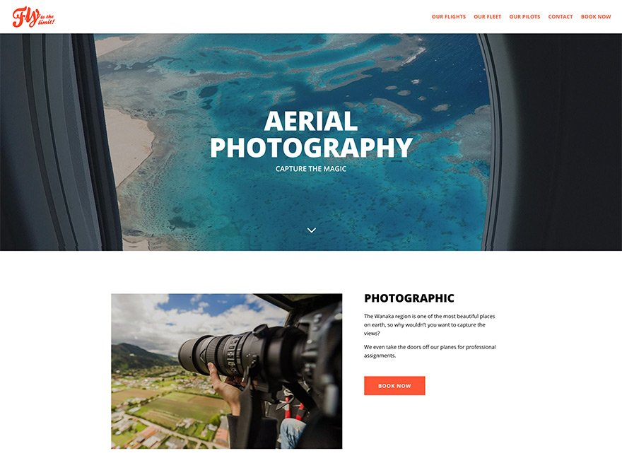 Book a photographic flight