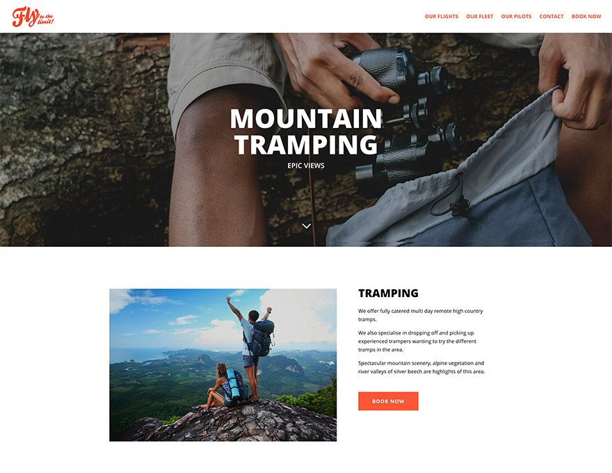 Book a mountain tramping trip