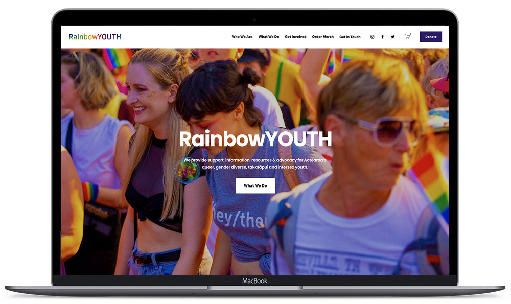 Rainbow Youth Website Redesign